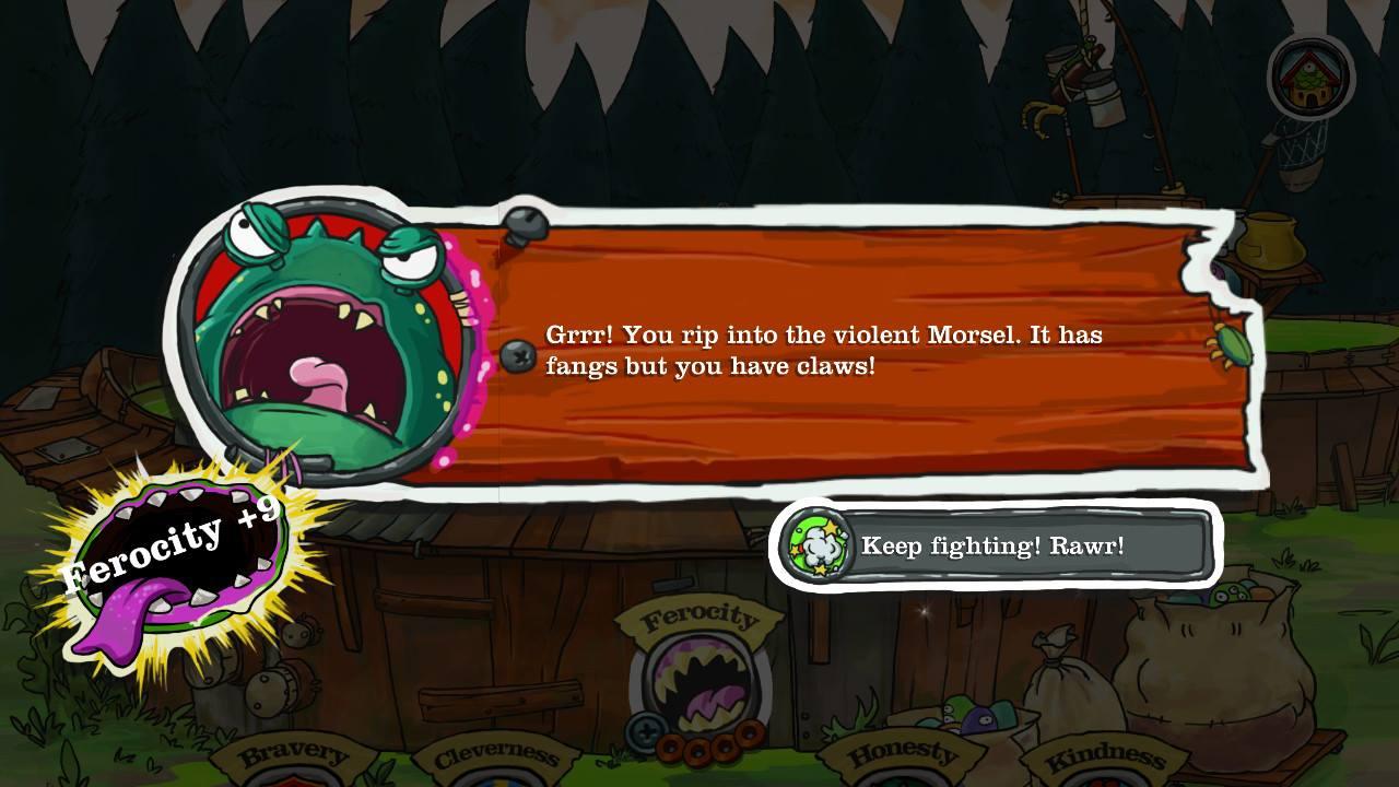Screenshot showing a gain in ferocity